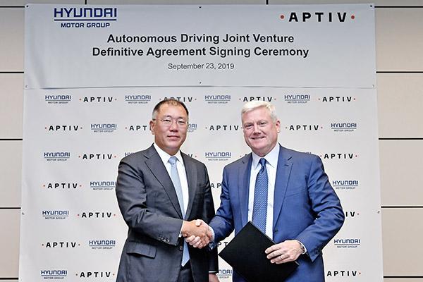 Partenariat entre les groupes Hyundai Motor et Aptiv dans le domaine de la conduite autonome