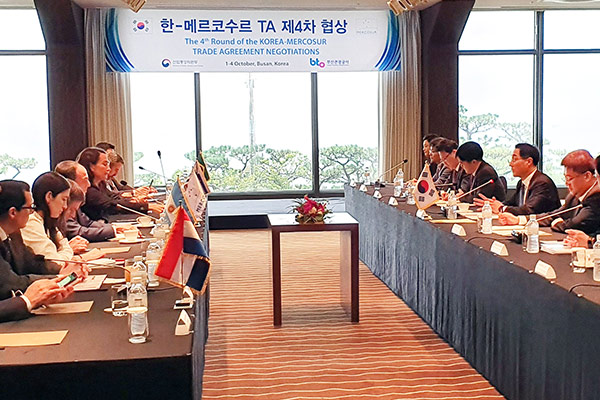 Pembukaan Perjanjian Perdagangan ke-4 antara Korea Selatan dan Mercosur