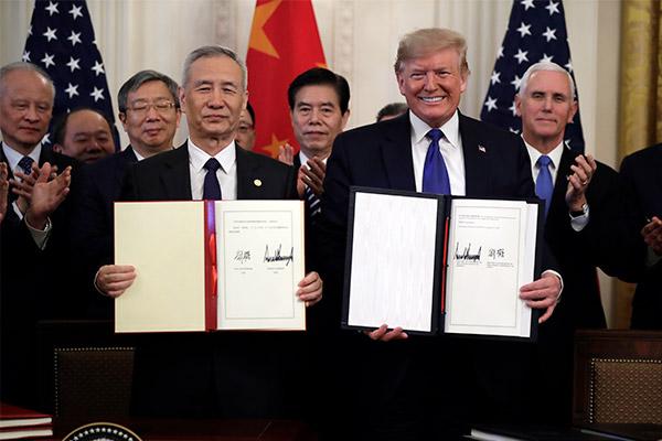 USA und China unterzeichnen Handelabkommen in erster Phase