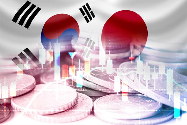 Ecart économique entre la Corée du Sud et le Japon