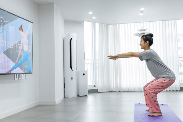 ازدياد عدد الكوريين الذين يمارسون التدريب المنزلي