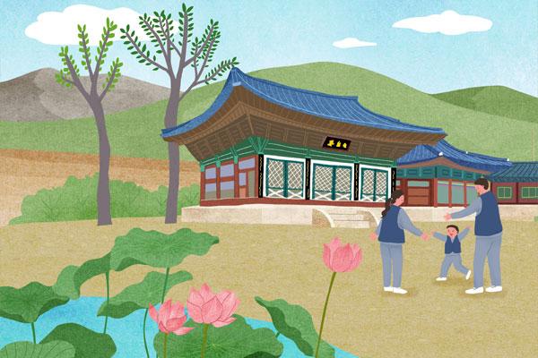 برامج الإقامة في المعابد البوذية الكورية من أجل تقليل مشاعر الحزن والاكتئاب