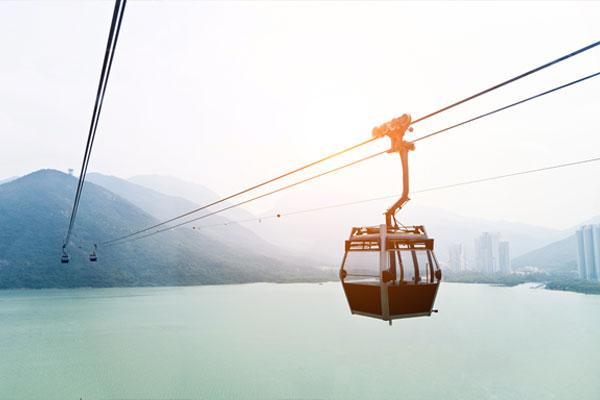 تسابق المدن الكورية لانشاء العربة السِّلكية التلفريك لتشجيع السياحية