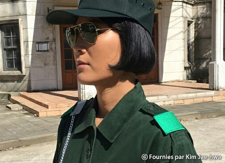Kim Jae-hwa, actrice francophone