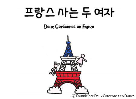 Deux Coréennes en France