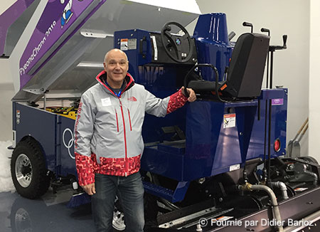 Didier Barioz, responsable adjoint des patinoires de PyeongChang