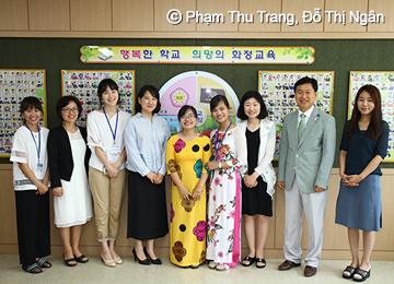 """Gặp gỡ hai giáo viên Việt Nam tham gia trong chương trình """"Trao đổi giáo viên Việt – Hàn 2016"""" do Viện nghiên cứu Châu Á Thái Bình Dương (APCEIU) UNESCO phối hợp cùng Bộ giáo dục Hàn Quốc tổ chức"""