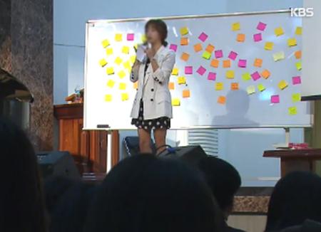 Nordkoreanischer Flüchtling halt Vorträge über Frieden