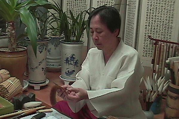 Lee In-hoon, Meister der Herstellung von traditionellen Tuschepinseln