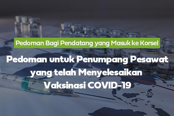 Pedoman untuk Penumpang Pesawat yang Telah Menyelesaikan Vaksinasi COVID-19