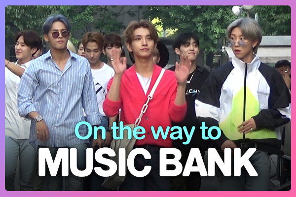 On the way to music bank 190809