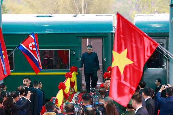 北韓の最高指導者専用列車