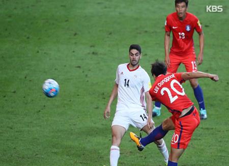 월드컵 최종예선, 우리나라 축구대표팀, 이란과 득점 없이 무승부