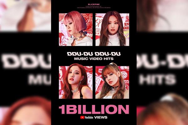 BLACKPINK《DDU-DU DDU-DU》MV点击量破10亿 创韩团纪录