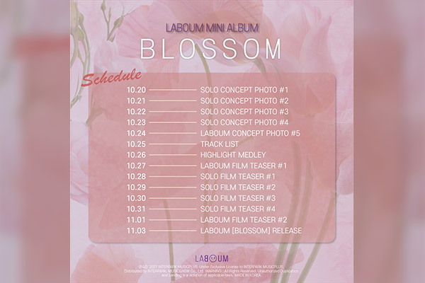 LABOUM将发行新专辑《BLOSSOM》回归 开启四人组时代
