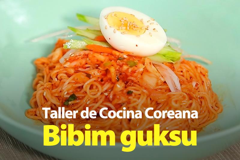 Bibim guksu (Fideos fríos con salsa picante)