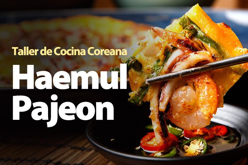 Haemul pajeon, panqueque crujiente y dorado al estilo coreano