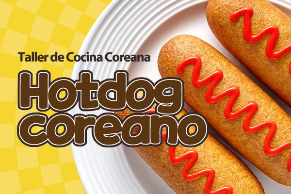 Hotdog estilo coreano, banderilla de salchicha