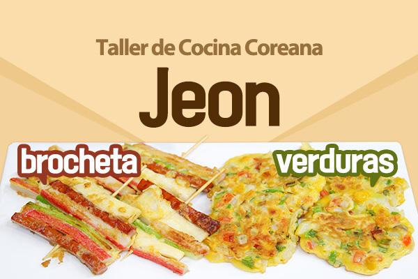 Dos tipos de Jeon, panqueque coreano