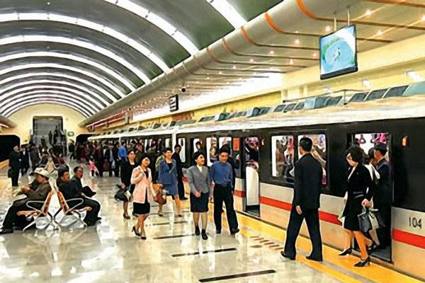Die U-Bahn in Pjöngjang