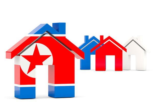 Desain Interior rumah di Korea Utara