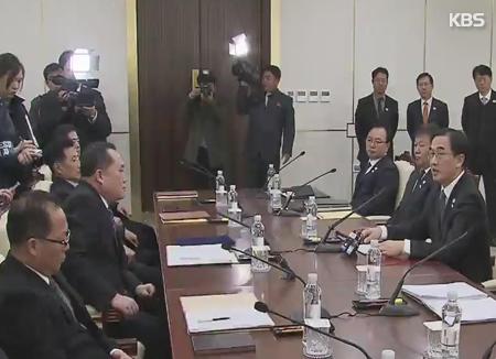 Die ersten Gespräche zwischen Süd- und Nordkorea seit zwei Jahren