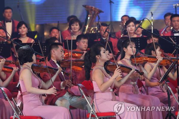 Le Cirque de Pyongyang donne un spectacle à Séoul en juin 2000