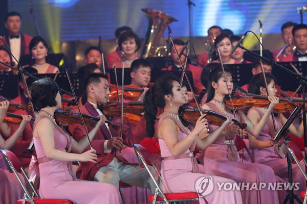 Pertunjukan rombongan sirkus Pyongyang di Seoul pada tahun 2000