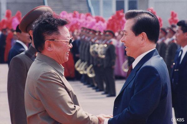 Das erste Korea-Gipfeltreffen im Juni 2000