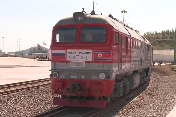 2014년 나진-하산 시범운송사업