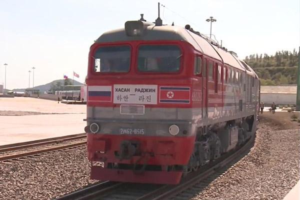 2014年罗津-哈桑试运输事业