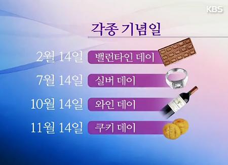 Le white day et les jours spéciaux en Corée