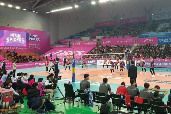 Le volleyball féminin passionne les foules en Corée du Sud