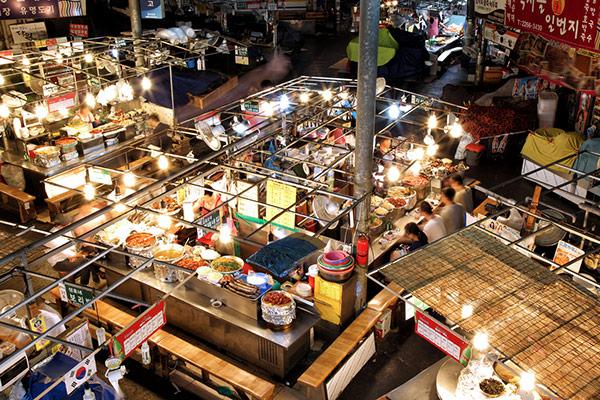 Le marché de Gwangjang