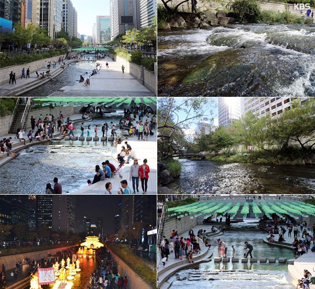 Le ruisseau Cheonggye refait surface