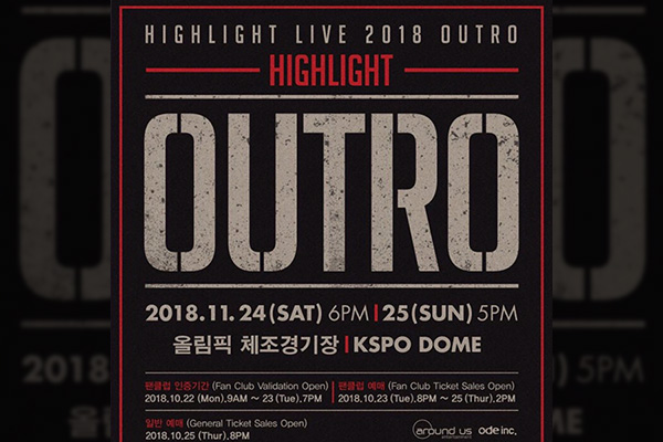 "HIGHLIGHT LIVE 2018 ""OUTRO"""