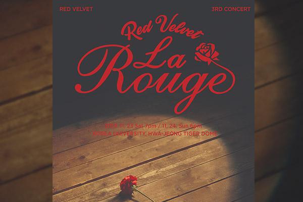 Le Rouge: le concert de Red Velvet aura lieu les 23 et 24 novembre