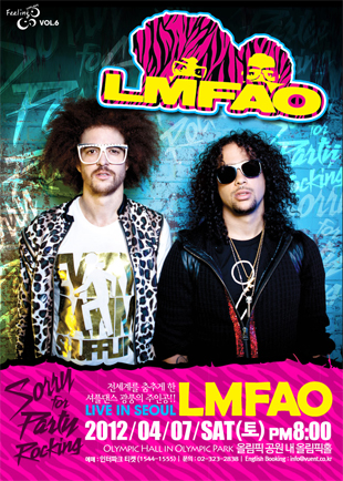 LMFAO:Feeling Concert Vol.6 LMFAO Live In Seoul