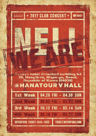 Nell va donner une série de concerts dans un club live de Hongdae