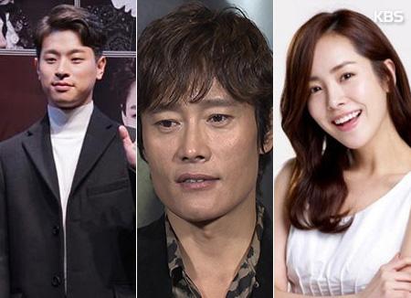 Актеры Хан Чжи Мин, Ли Бён Хон и Пак Чон Мин
