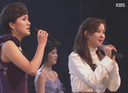 Со Хён исполнила вместе с северокорейским ансамблем