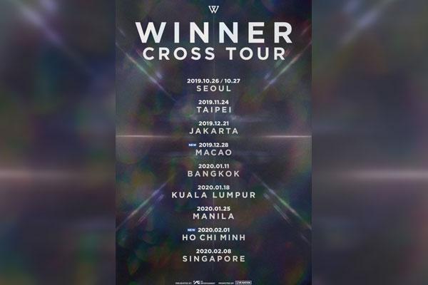 WINNER亚洲巡演增加澳门及胡志明站演出
