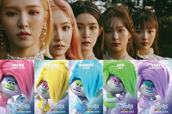Участницы группы Red Velvet озвучили героев из мультфильма «Тролли. Мировой тур»