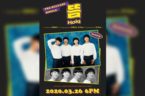 WINNER提前公开第三张正规专辑主打歌《HOLD》 宋闵浩创作