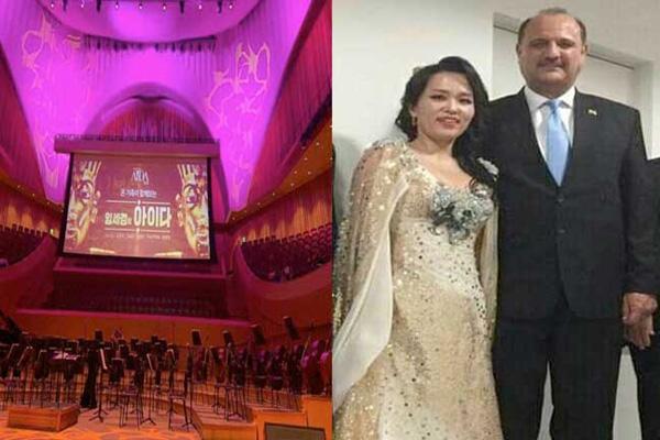 السفير المصري لدى سيول يشارك في الحفل التروجي لأوبرا عايدة كضيف شرف