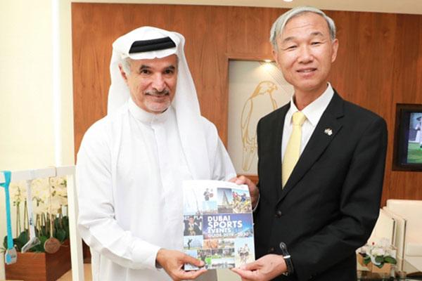 مجلس دبي الرياضي يبحث التعاون مع القنصلية الكورية