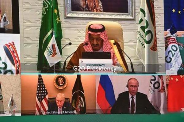 إعجاب دول قمة مجموعة  20 في الرياض بقاعة المباحثات الكورية عبر الفيديو