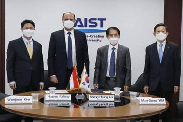 توقيع مذكرة تفاهم خاصة بإنشاء فرع للمعهد الكوري للعلوم والتكنولوجيا في مصر
