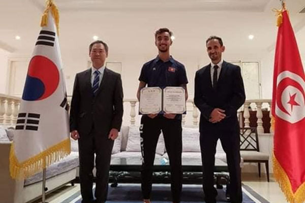 تعيين لاعب التيكوندو التونسي الجندوبي سفيرا ترويجيا لرياضة التيكوندو