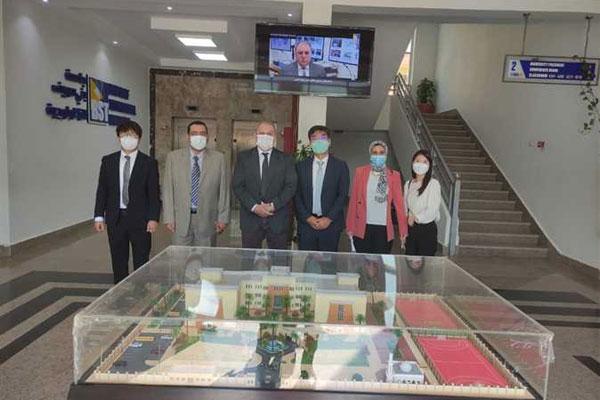 وفد كوري يزور جامعة بني سويف التكنولوجية المصرية